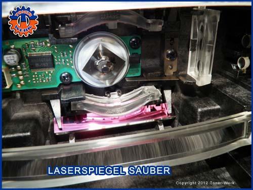 HP Laser Spiegel sauber