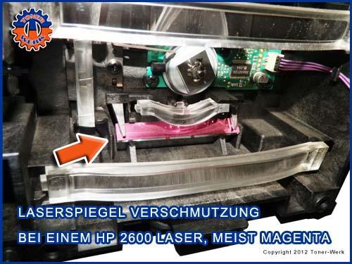 HP Laser Spiegel dreckig
