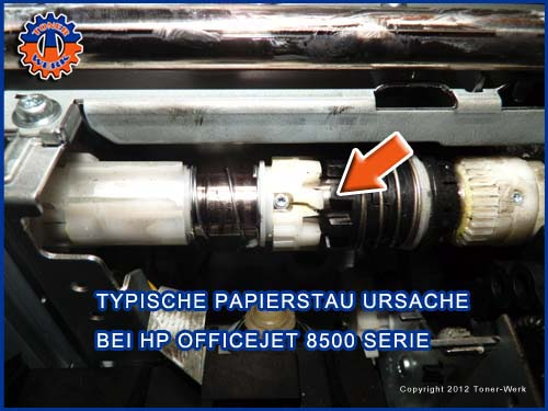 HP Officejet Papierstau - Zahnrad
